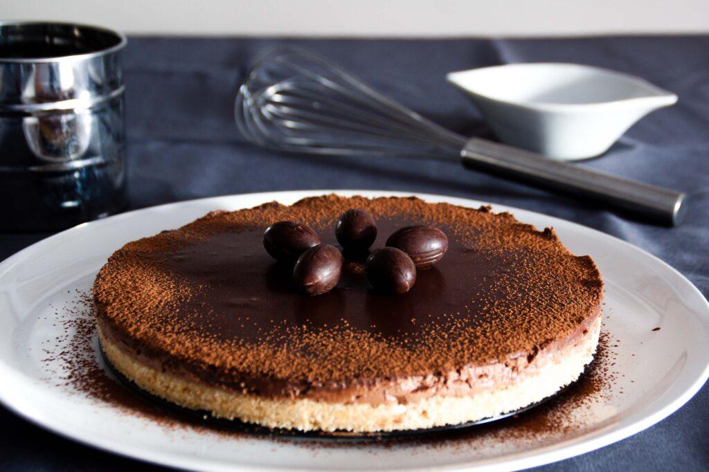 Tarta de chocolate con queso crema