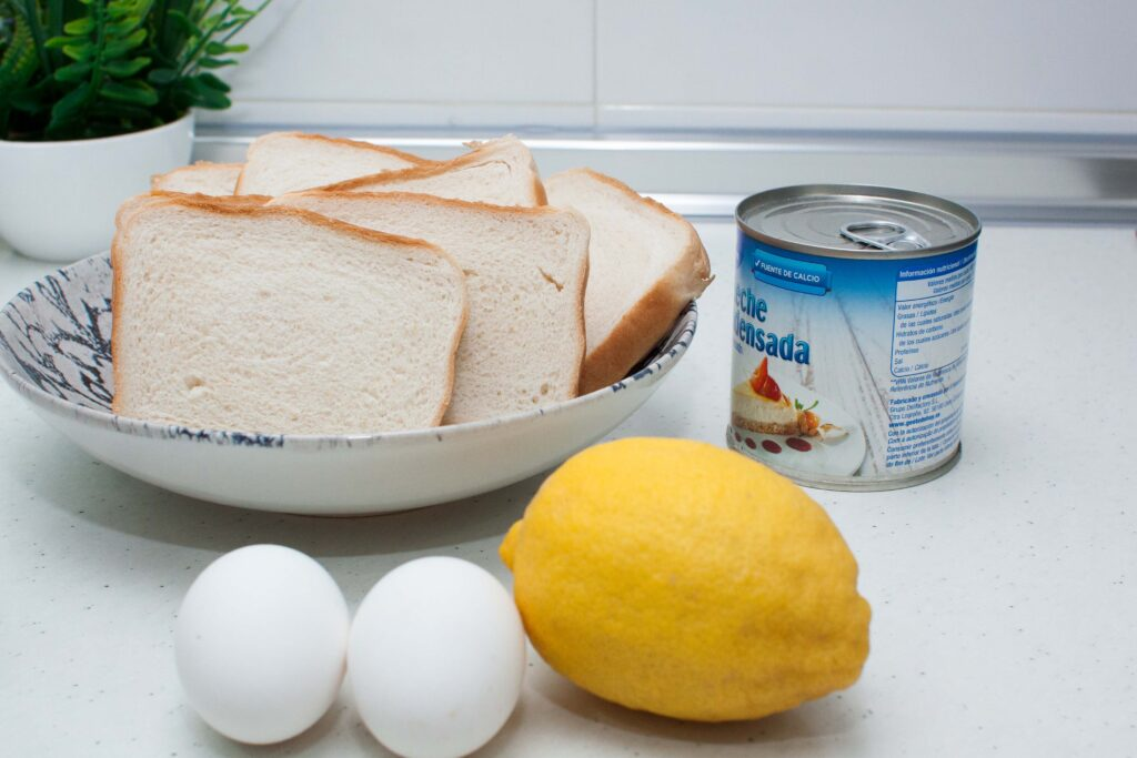 ingredientes para las torrijas