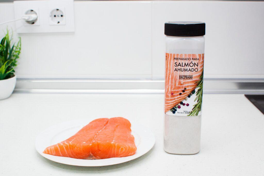 sazonador de mercadona para ahumar salmon